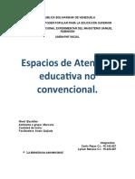 espacios de atencion en la educacion no convencional