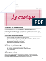 Le registre comique