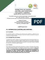 PARÀMETROS DE DISEÑO ALCSAN AKC