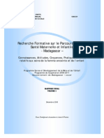 Recherche formative sur le parcours de soins de santé maternelle et infantile à Madagascar - volume 1 - 2008