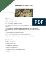 RECIPES AND PROCEDURES(FLORIZA MAE)