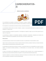 TALLER DE CARBOHIDRATOS