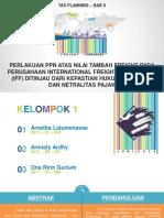 Perlakuan PPN atas Nilai Tambah Freight pada Perusahaan IFF