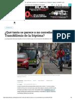 Corredor verde_ ¿qué tanto se parece o no a TransMilenio por la Séptima_ - Bogotá - ELTIEMPO.COM