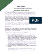 Phowa Practice