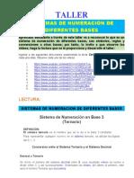 7- TALLER   SISTEMAS DE NUMERACION DE DIFERENTES BASES