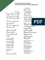 CANTOS PARA PROGRAMA VOCACIONAL PROGRESO