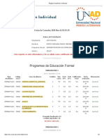 Registro Académico Individual -DORIS ADRIANA PARRA