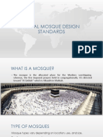 Local mosque Design standards and case studies