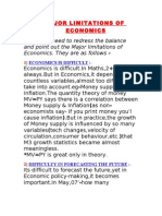 5 MAJOR LIMITATIONS OF ECONOMICS