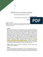 ANTROPOCENO COLAPSO DE LA ESPECIE y desarrollo sostenible