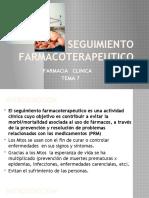 SEGUIMIENTO FARMACOTERAPEUTICO