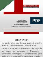 SESION DE BIENVENIDA COMPETENCIAS DE COMUNICACIÓN(1)
