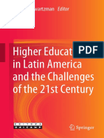 Higher Education in Latin America and the Challenges for the 21st century