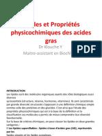 1-Lipides + Propriétés des AG