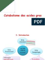 3-Catabolisme des A.G (beta-oxydation)