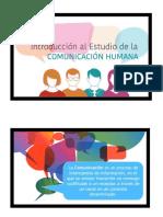 COMUNICACIÓN 1 -  ELEMENTOS DE LA COMUNICACIÓN