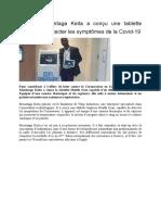 Guinée - Mountaga Keita a conçu une tablette capable de détecter les symptômes de la Covid-19