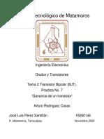 José_Pérez_DyT_Practica_Ganancia_de_un_transistor