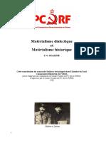 Stalin - Matérialisme dialectique et Matérialisme historique