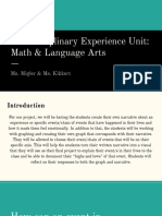 interdisciplinary experience