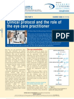 Clinical protocol and the role of teh eye care practitioner