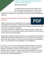 4º ANO-MISTURAS E TRANSFORMAÇÕES- MICRORGANISMOS