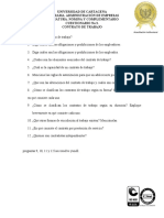 Cuestionario N°3. Contrato de Trabajo