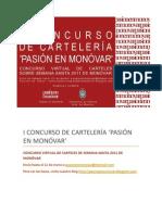 I CONCURSO DE CARTELERÍA 'PASIÓN EN MONÓVAR' - BASES