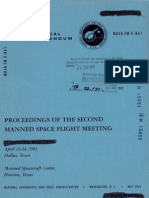Proceedings of the Second Manned Spaceflight Meeting-Classified Portion