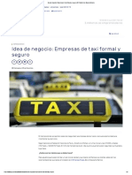 Idea de negocio Empresas de taxi formal y seguro _ El Portal de los Emprendedores