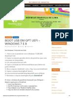 BOOT USB EM GPT UEFI – WINDOWS 7 E 8 _