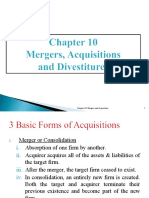 6.MAF 603 Ch 10 - Mergers, Acquisitions and Divestitures