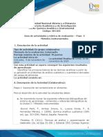 Guia de actividades y Rúbrica de evaluación Paso 3. Métodos Instrumentales