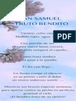 FRUTO BENDITO - Poema para baby shower