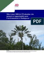 Mise à jour 2008 de l'Évaluation des menaces et opportunités pour l'environnement à Madagascar - 2008