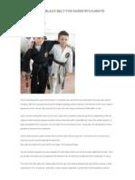 nine year old black belt for sasen ryu karate academy