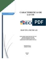 CARACTERISITCAS DE LAS TIC