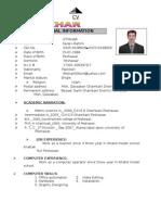 Name   IFTIKHAR M.A cv