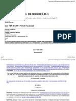 Ley 715 de 2001 Nivel Nacional