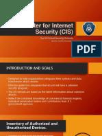 The Center for Internet Security (CIS)