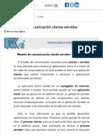 1.2 Modelo de comunicación cliente-servidor  1.2 Modelo de comunicación cliente-servidor  Material