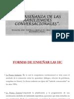 La      enseñanza de las habilidades conversacionales