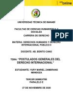 MAPA CONCEPTUAL POSTULADOS GENERALES DEL DI