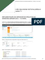 IMPLEMENTAÇÃO DE SERVIDOR DE ARQUIVOS NO WINDOWS SERVER 2012 – TUTORIAL – Senai Tutoriais