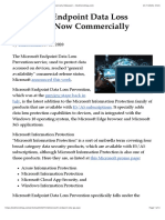 Microsoft Endpoint Data Loss Protection Now Commercially Released -- Redmondmag.com