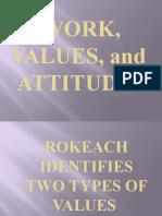 Presentation- WORK VALUES AND ATTITUDES