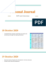 personal journal  sop and interview