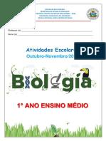 1° ano Biologia outubro e Novembro