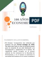 100 años de econometria